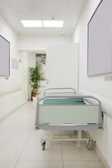 Interior of a hospital corridor