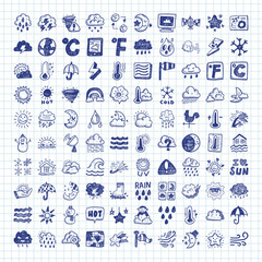 doodle weather icons