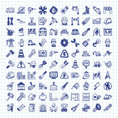 doodle construction icons