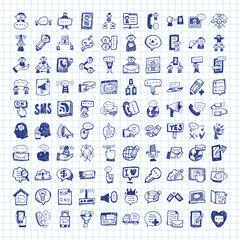 doodle communication icons