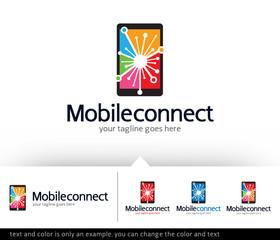 Mobile Connect Logo Template Design Vector