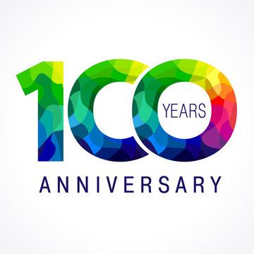 100 anniversary color logo