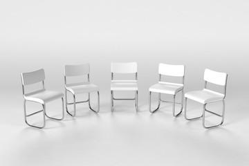 並べた椅子のイラスト