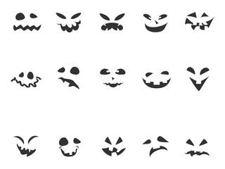 doodle Pumpkin Carving face set