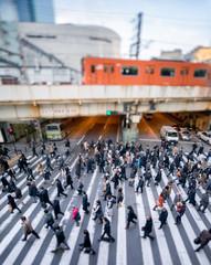 Fotomurales - Berufspendler gehen zur Arbeit in Japan