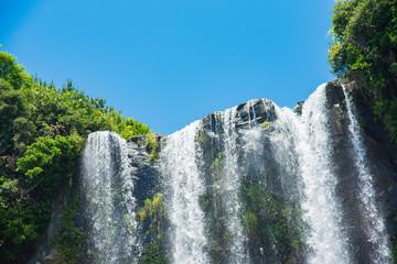 済州島 正房瀑布 海に流れる美しい滝 The Jeongbang Waterfall which falls directly into the sea, Jeju-do, South Korea