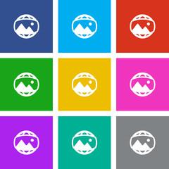 App Icon Metro Style - 9 Colors