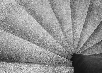 Architecture detail Spiral staircase Black and White Wall mural