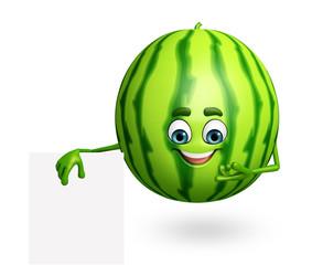 Cartoon character of watermelon