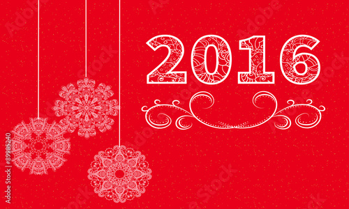 2016 happy new year card template simple background for design