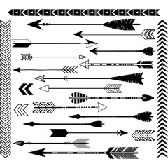 Black Arrow Clip Art Set