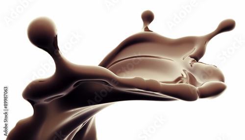 schoko splash stockfotos und lizenzfreie bilder auf bild 89987063. Black Bedroom Furniture Sets. Home Design Ideas