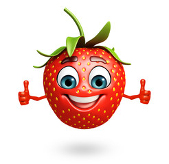 Cartoon character of strawberry