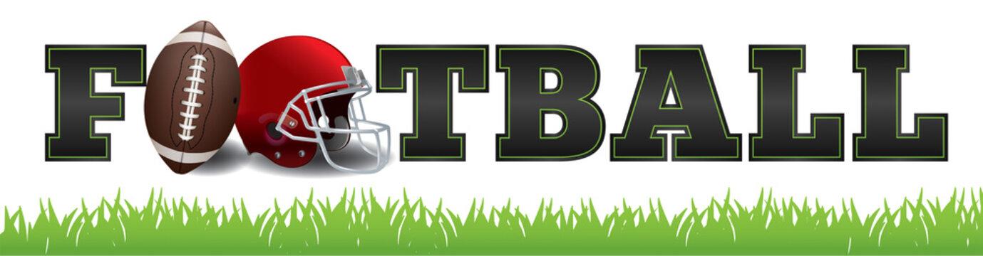 American Football Word Art Illustration