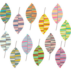Tribal Leaf Pattern Collection