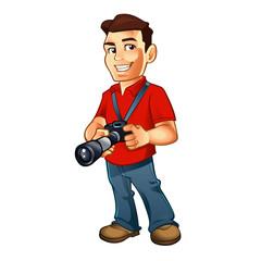 photographer cartoon with camera