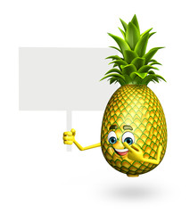 Cartoon character of pineapple