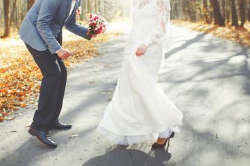 Groom and bride together.