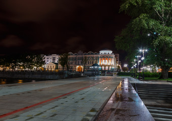 embankment Yekaterinburg night