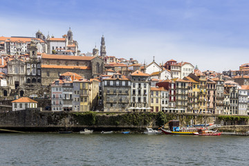 View of Ribeira historical quarter, on the margin Douro river