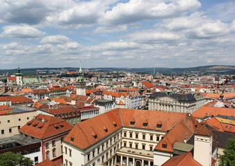 view from Cathedral of st. Peter and st. Paul, Brno, Czech republic
