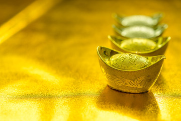 Gold ingot of China