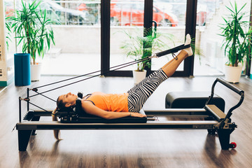 Work out in a pilates room