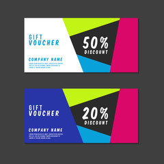 Voucher Template with Premium Minimal Style Pattern