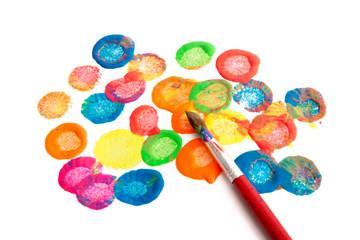 Bilder und videos suchen farbtupfen for Zimmerwand farben
