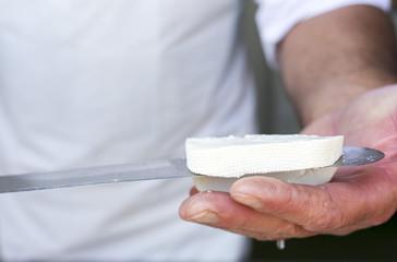 Greek white feta cheese knife