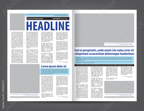 free newspaper layout template