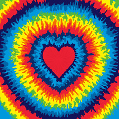 Heart Tie Dye Background
