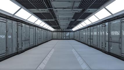 Modern futuristic corridor interior