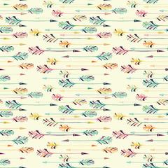 Feather arrow seamless pattern.