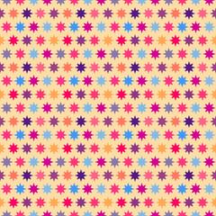 Retro colorful star seamless pattern.  illustration