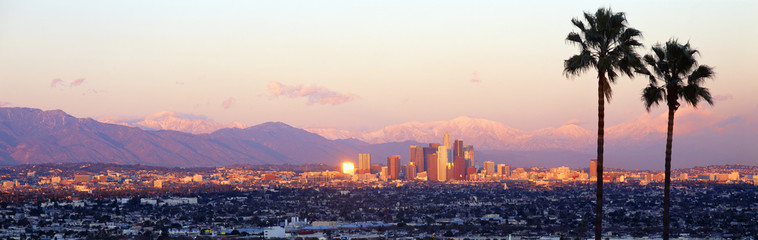 Downtown Los Angeles, Sunset, California