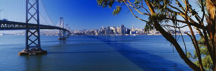 Bay Bridge & San Francisco from Treasure Island, Sunrise, California
