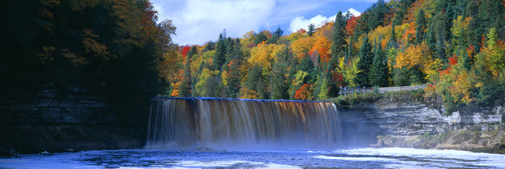 Printed roller blinds Waterfalls Tahquamenon Fall State Park. Inspired Longfellow's Song of Hiawatha. Michigan