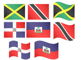 Caribbean Flags 2 EPS 10