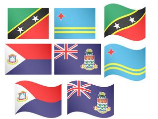 Caribbean Flags 5 EPS 10