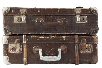Two Brown Suitcases