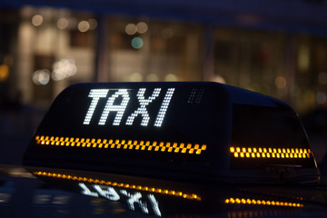 Taxi sign in Brussels