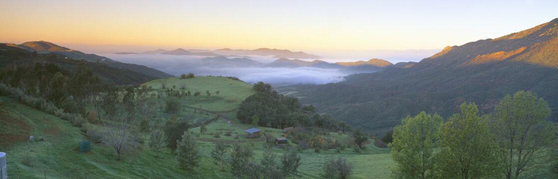 Sunrise across San Fernando Valley, California