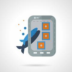 Fish photo shot flat vector icon