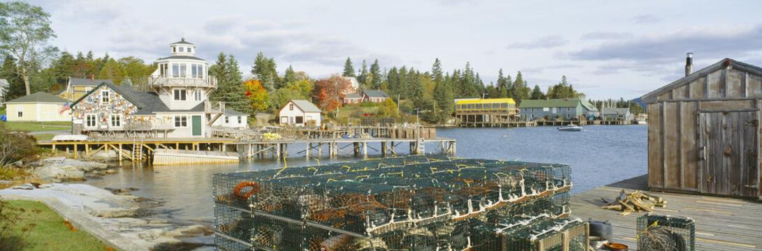 Lobster Village in Autumn, Southwest Harbor, Stonington, Maine