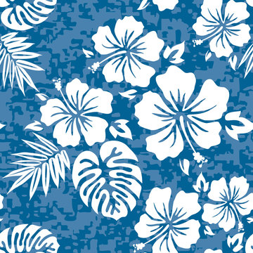 Aloha Hawaiian Shirt Seamless Background Pattern