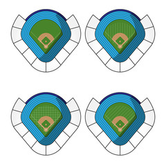 Set of Baseball Stadiums  2