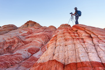 Photographer at Yant Flat in Southern Utah