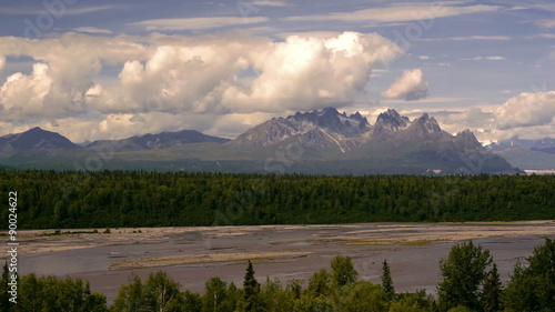 Wall mural The Peaks and Valleys of Denali Alaska Territory