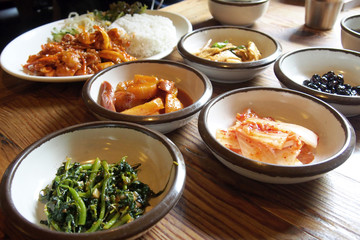 Traditional Korean side dish food